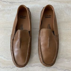 Clark's Leather Moccasins Loafers Slip On Shoes